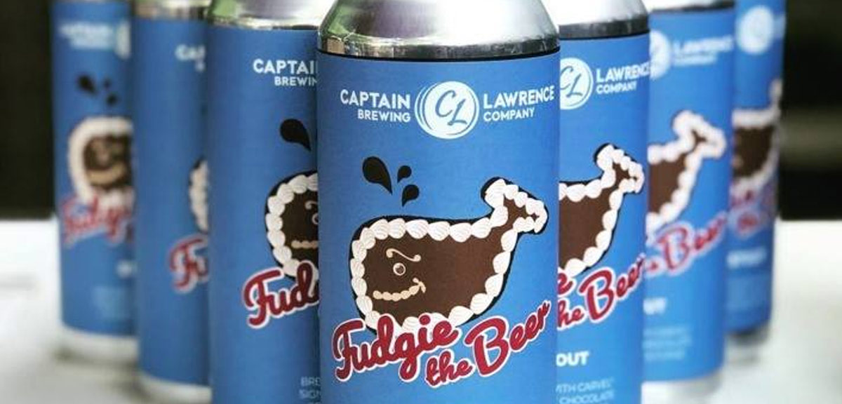 cans of fudgie the beer